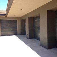 Garage Doors Clad in Steel