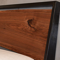 Steel and Walnut Bed