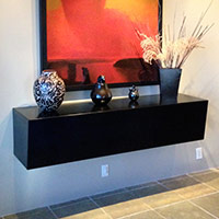 Floating Table collaboration with HVL Interiors