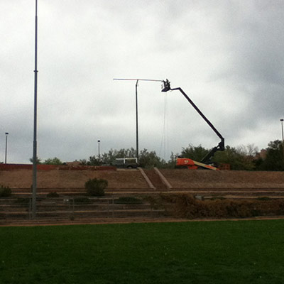 Santa Fe Fiesta Park - Jesse Repairing Zozobra